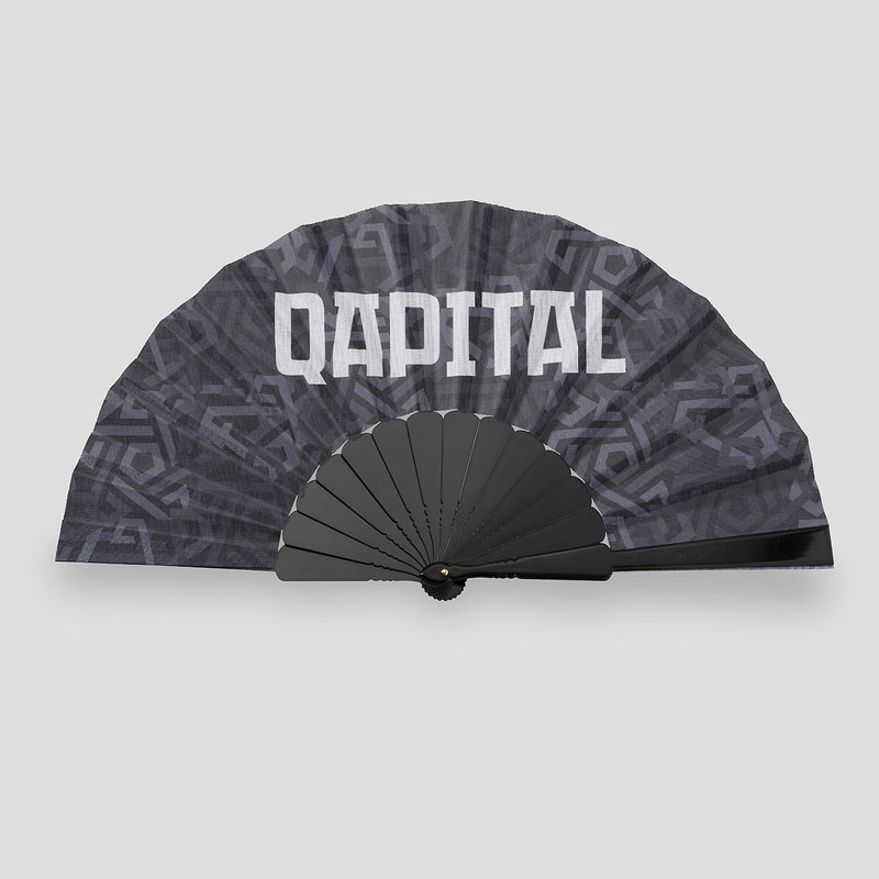 Qapital handfan black/pattern