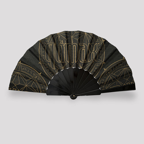 Qlimax handfan black/gold
