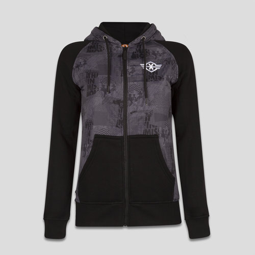 Q-base hooded zip black/grey