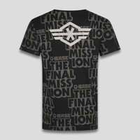 Q-base t-shirt black/pattern