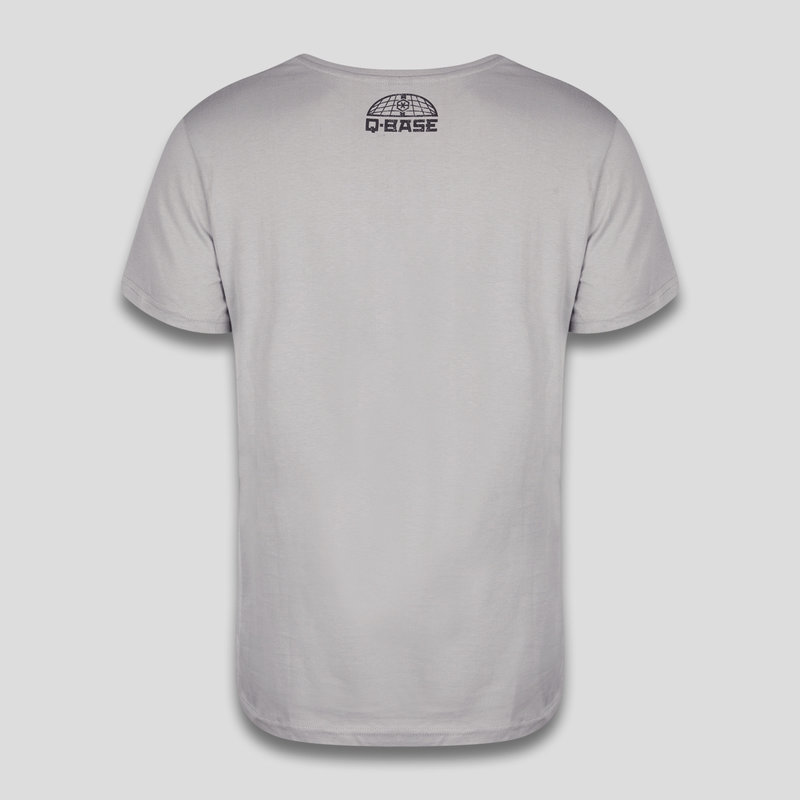Q-base t-shirt light grey