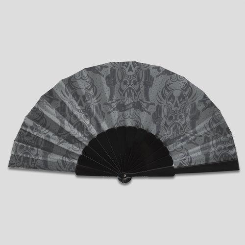 Q-dance handfan grey/black