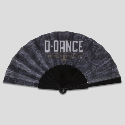 Q-dance handfan black/grey