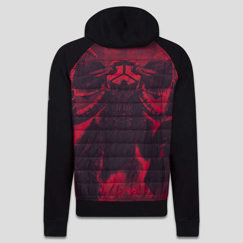 Defqon.1 padded jacket black/red