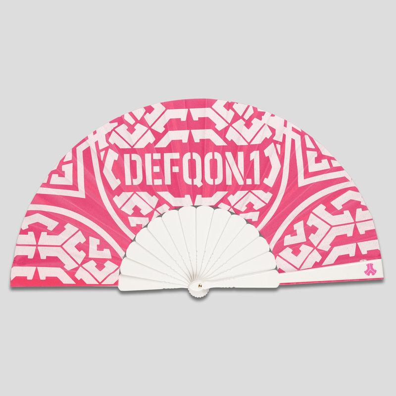 Defqon.1 handfan pink/white