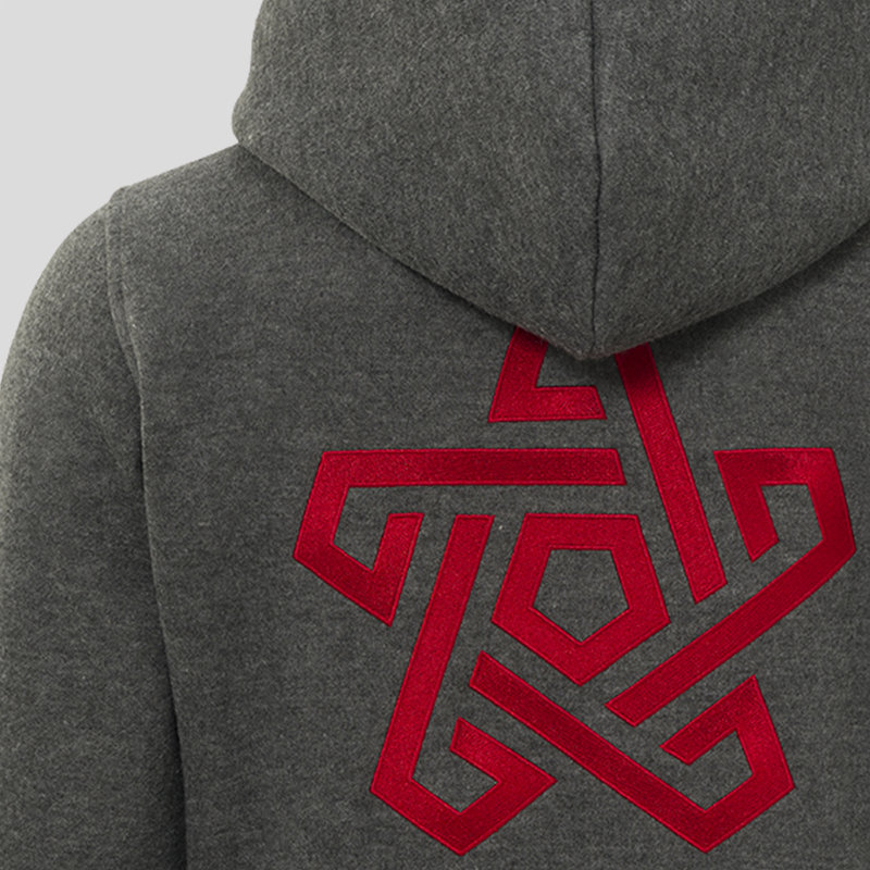 Qapital hooded zip grey