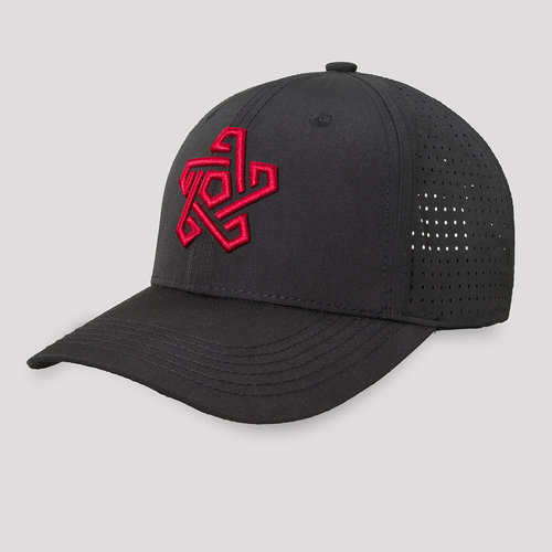 Qapital baseball cap black/red