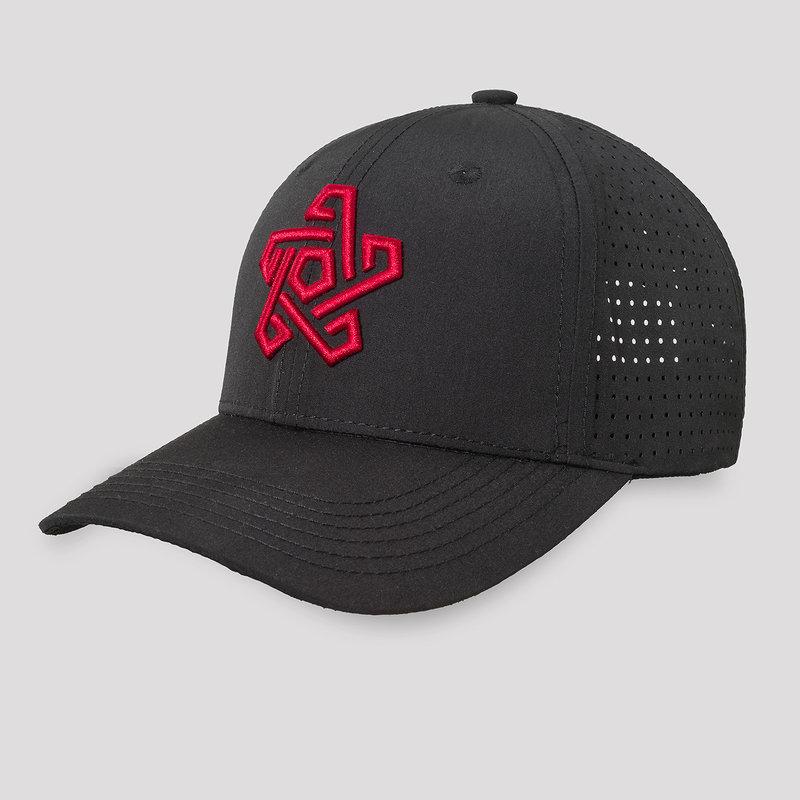 Qapital baseball cap black/red