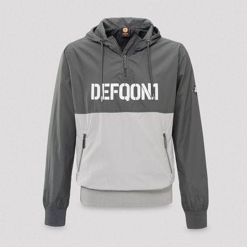 Defqon.1 wind jacket half zip grey