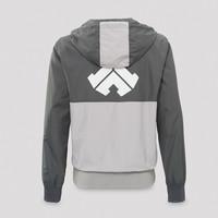 Defqon.1 wind jacket half zip grey
