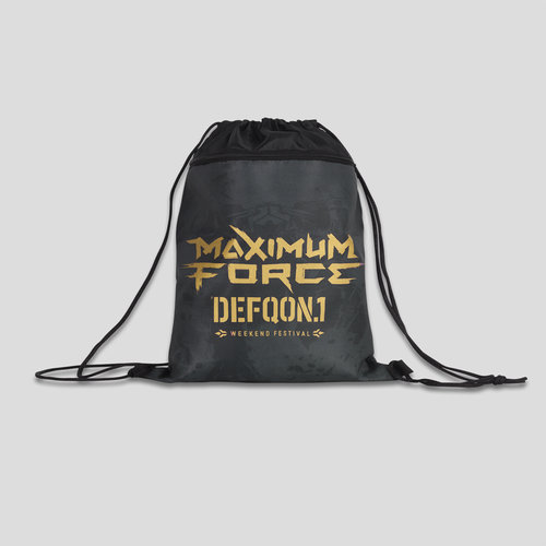 Defqon.1 stringbag black/gold