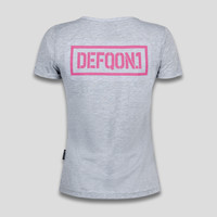 Defqon.1 t-shirt grey/pink