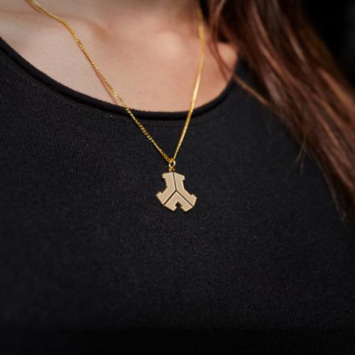 Defqon.1 golden logo necklace
