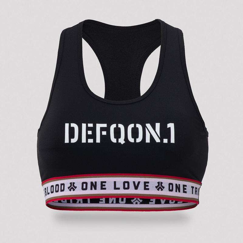 Defqon.1 sport bra black/tape