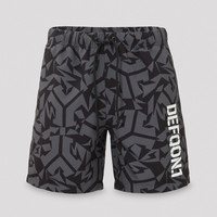 Defqon.1 swim short camo black/grey