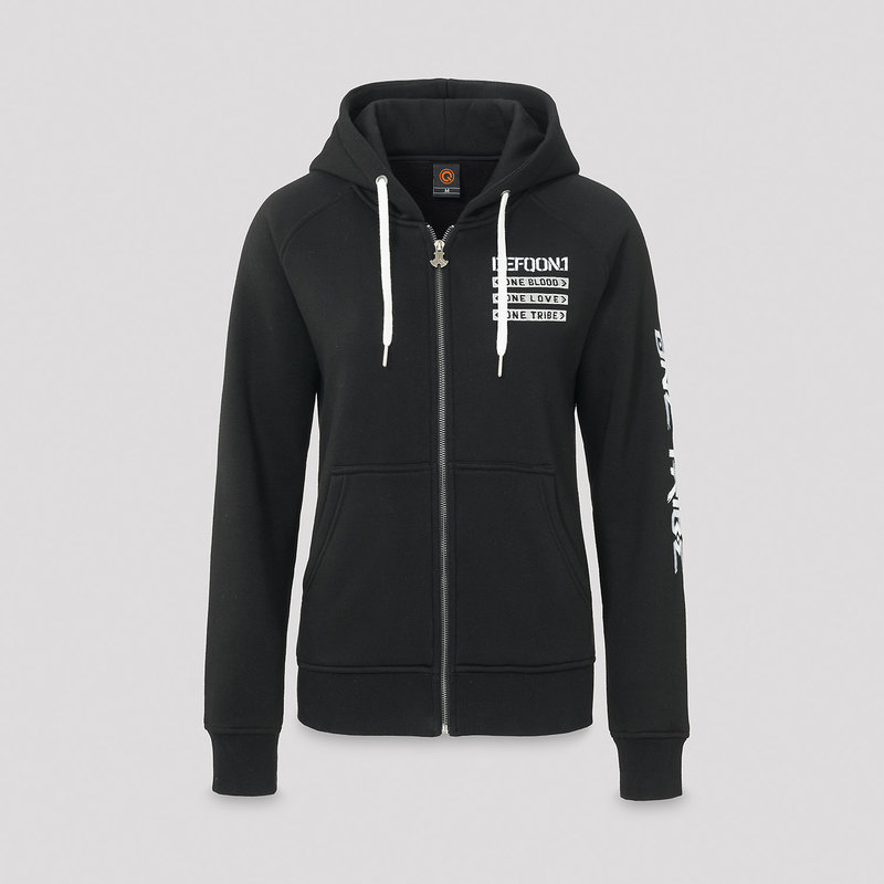 Defqon.1 hooded zip black/white