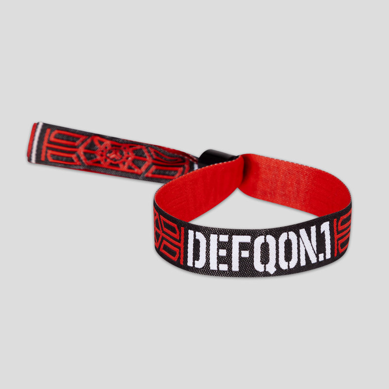 Defqon.1 woven bracelet black/red