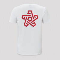 Qapital t-shirt white/red