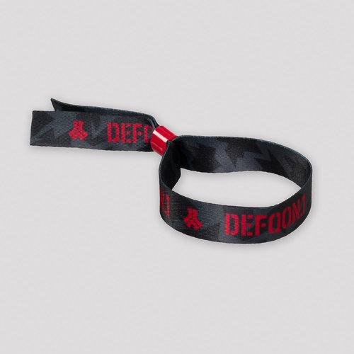 Defqon.1 woven bracelet grey/camo
