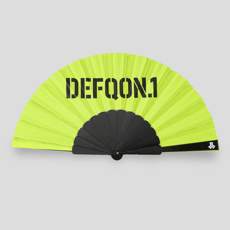 Defqon.1 handfan neon yellow/black