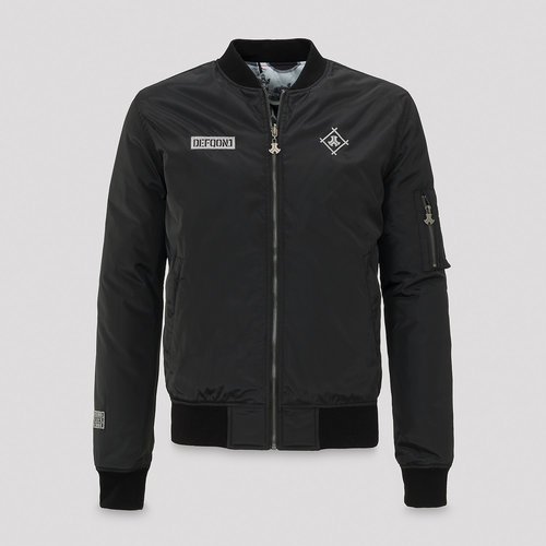 Defqon.1 reversible bomber black