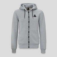 Defqon.1 hooded zip heather grey