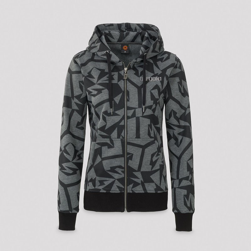 Defqon.1 hooded zip dark grey/pattern