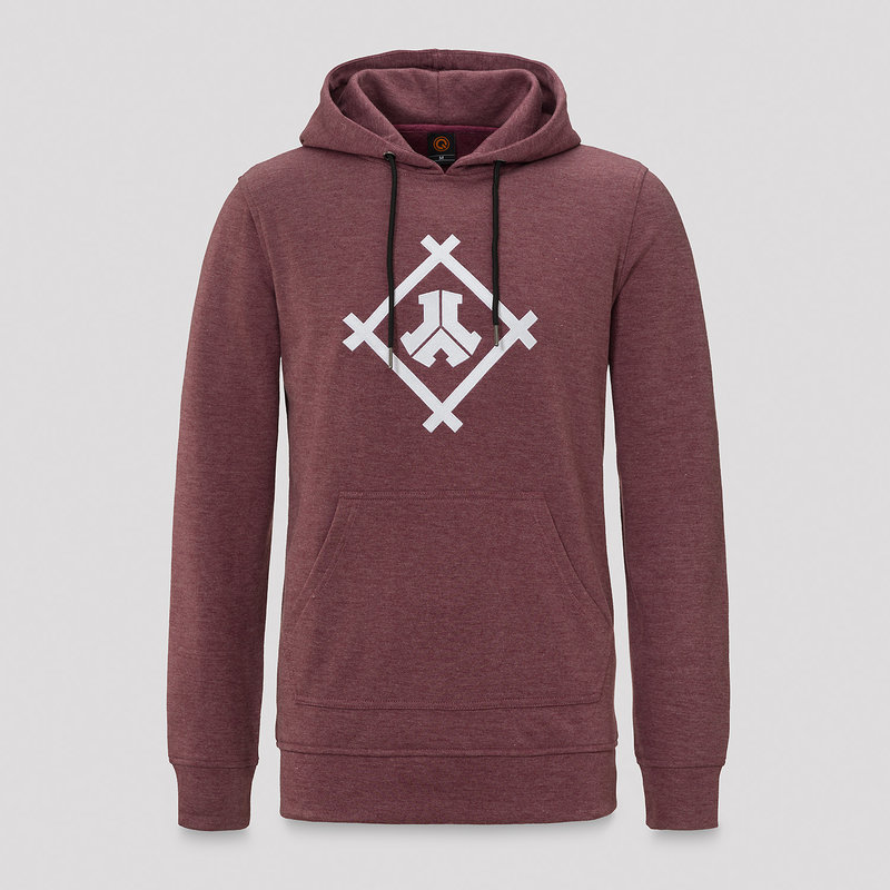 Defqon.1 long hoodie burgundy/white
