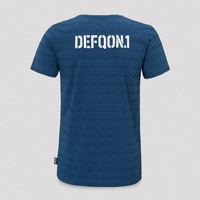 Defqon.1 t-shirt blue/pattern