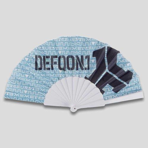 Defqon.1 handfan pattern/blue
