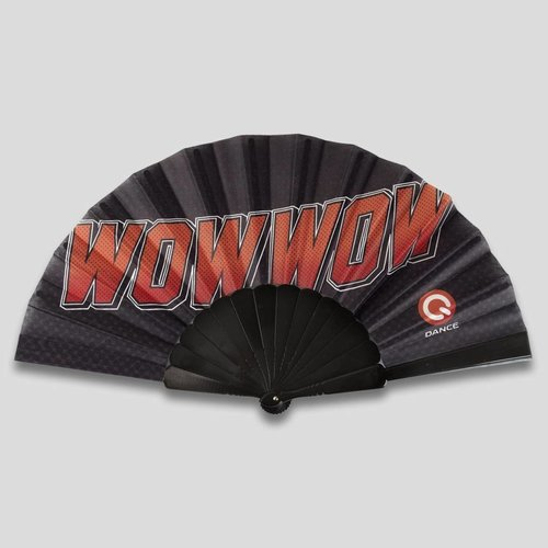 Wow wow handfan black/red