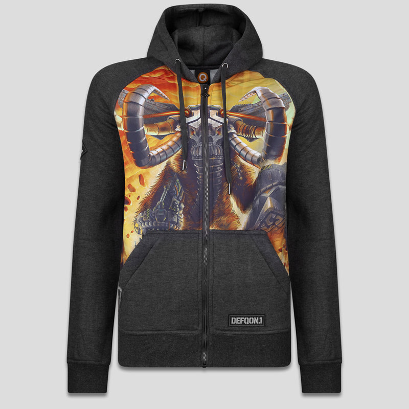 Defqon.1 hooded zip grey