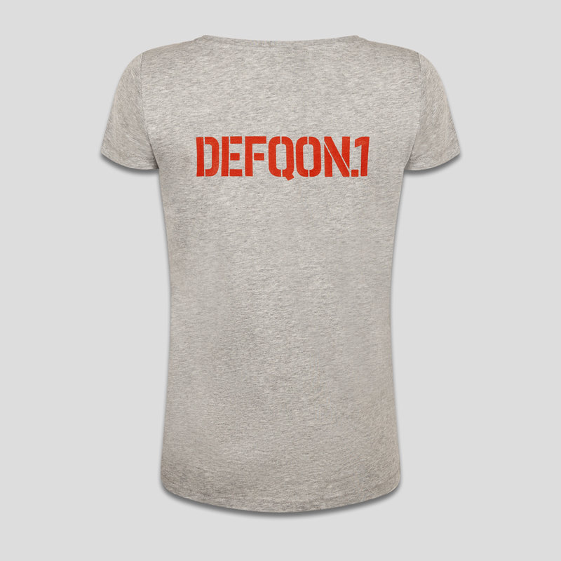 Defqon.1 t-shirt heather grey/orange