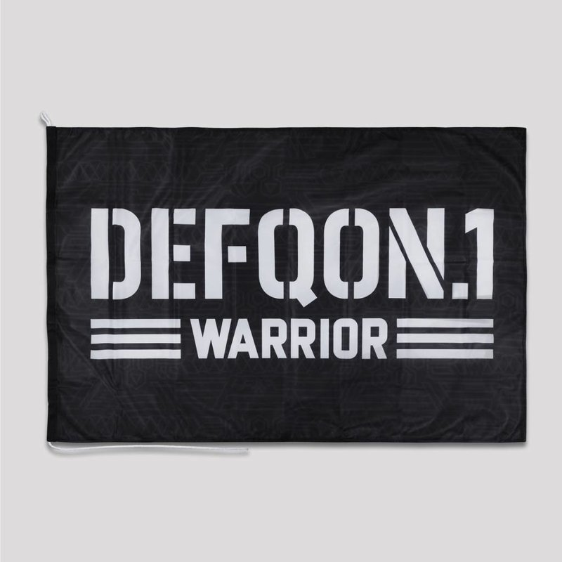 Defqon.1 flag black/white