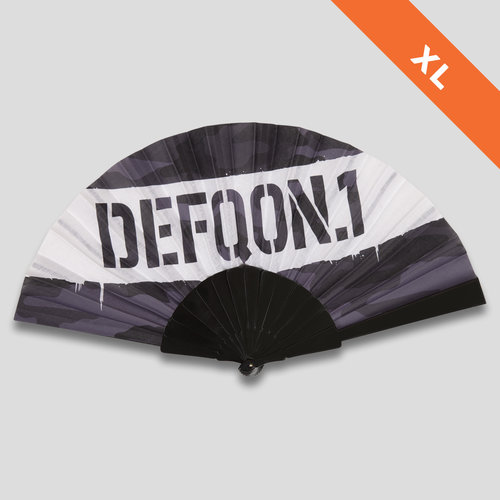 Defqon.1 xl handfan black/white