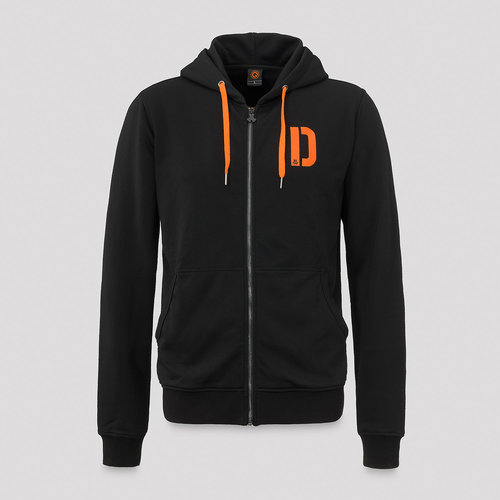 Defqon.1 hooded zip black/orange