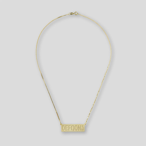 Defqon.1 golden bar necklace