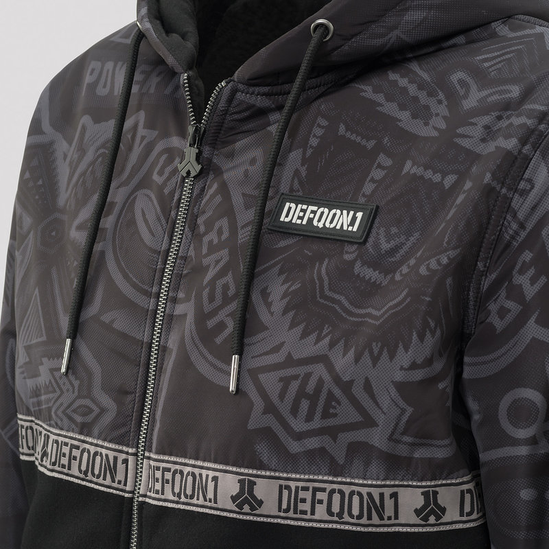 Defqon.1 thick vest black/sticker bomb