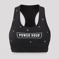 Defqon.1 Power Hour sport bra black/crosses
