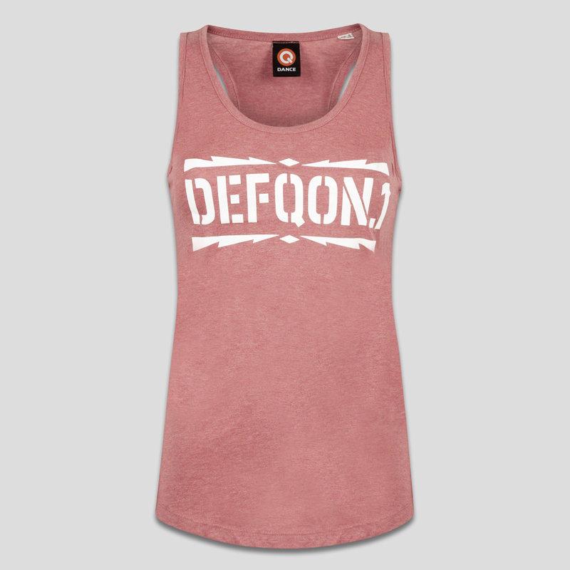 Defqon.1 tanktop cranberry/white