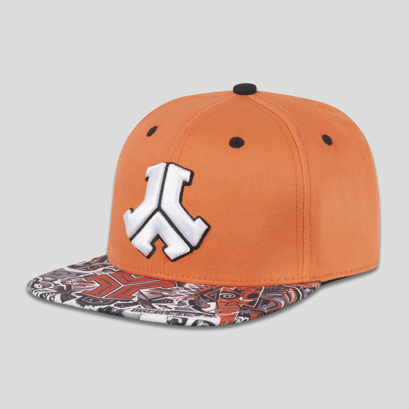 Defqon.1 snapback orange/stickerbomb