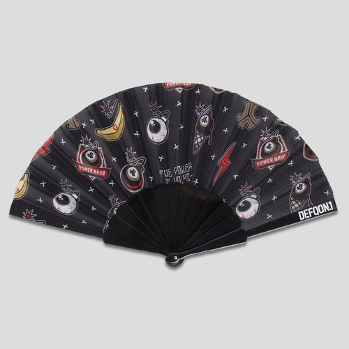 Defqon.1 power hour handfan black