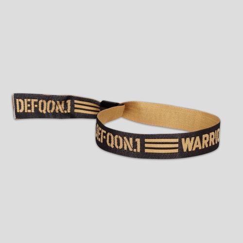 Defqon.1 woven bracelet black/gold