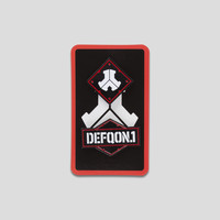 Defqon.1 pin buttons black/red