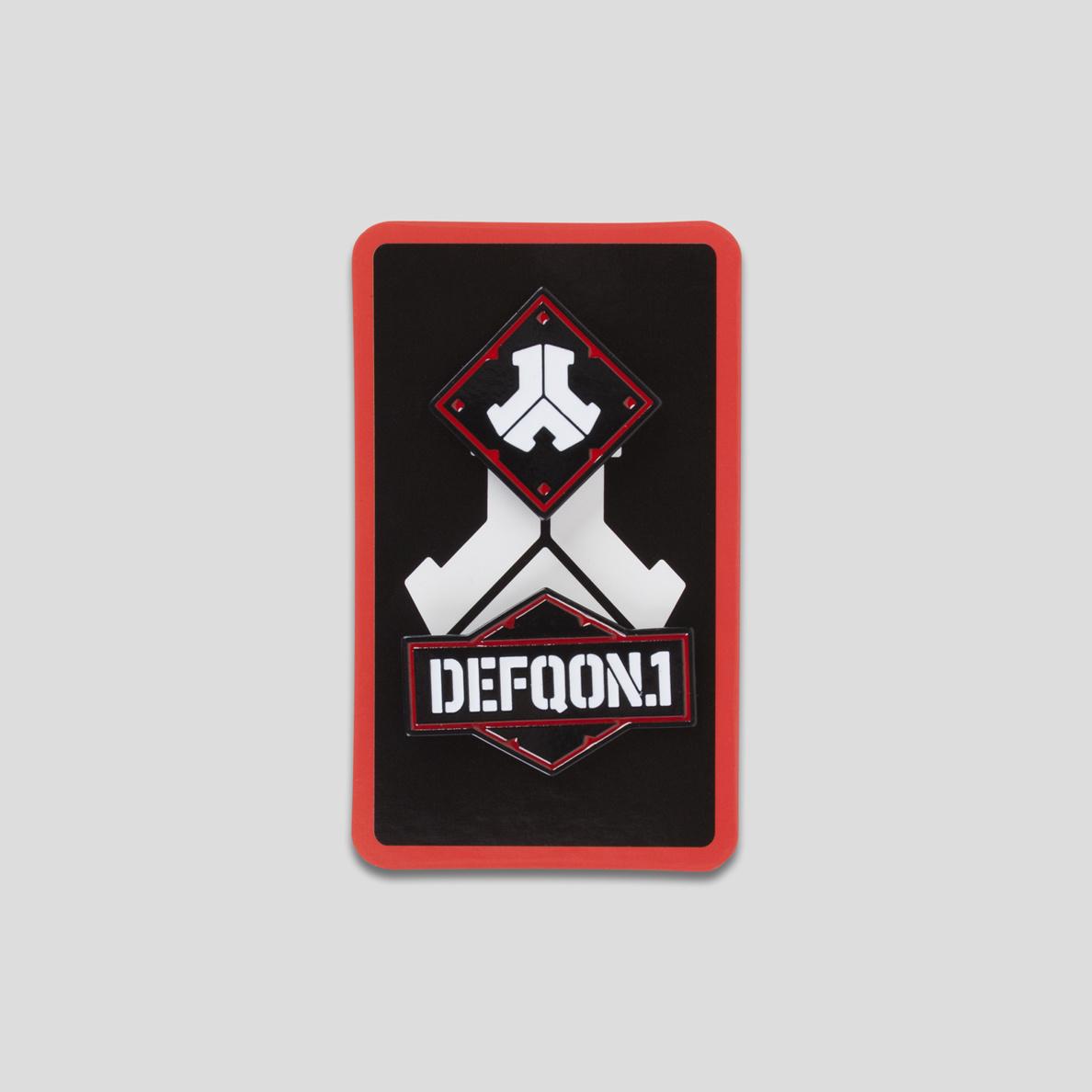 DEFQON.9 PINBUTTONS BLACK/RED   Q dance