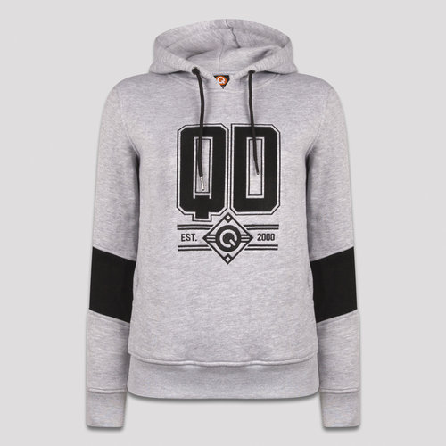 Q-dance hoodie heather grey