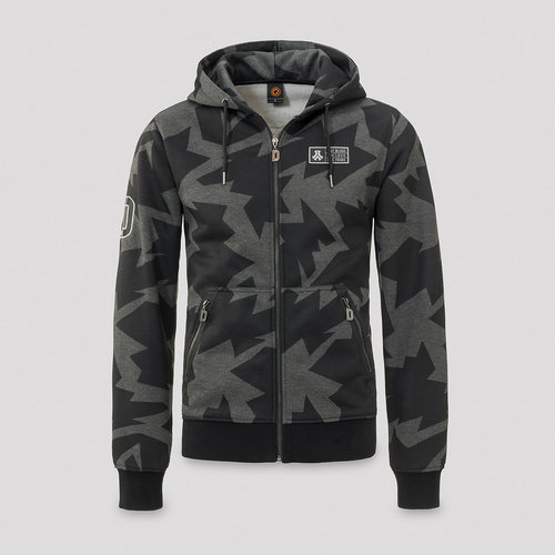 Defqon.1 hooded zip camo/grey