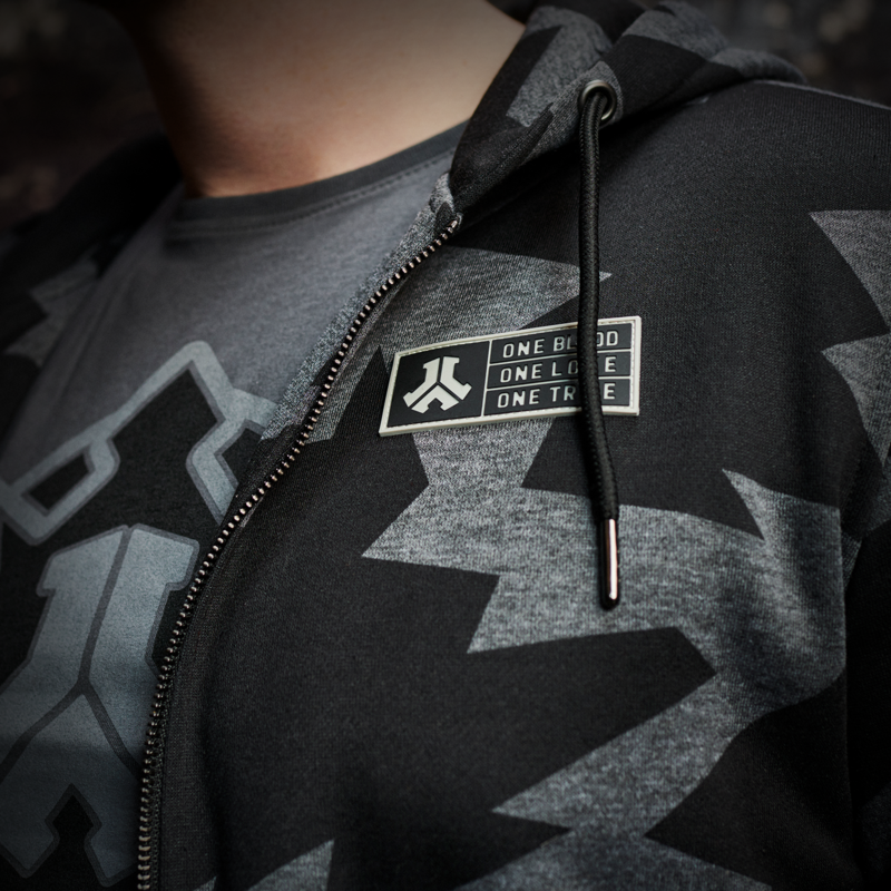 Defqon.1 hooded zip camo/grey