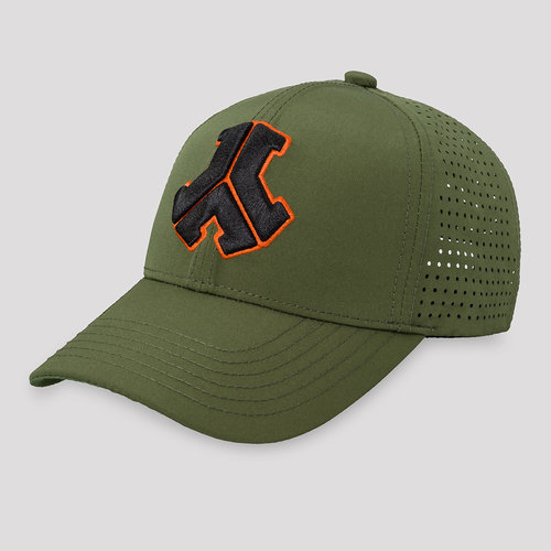 Defqon.1 baseball cap army green/orange
