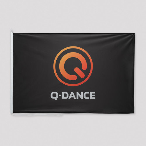 Q-Dance flag black